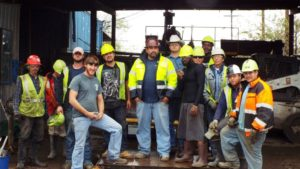 All American Recycling team members at the Austin recycling facilities