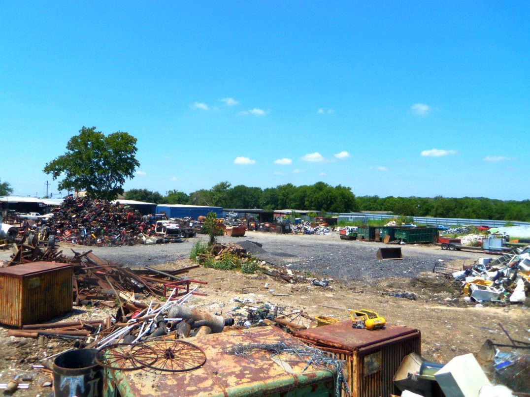 Back yard at All American Recycling in Austin