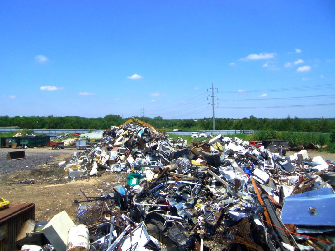 Piles of scrap metal at our recycling center in Austin