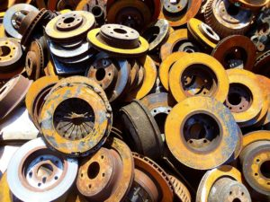 metal recycling of wheels